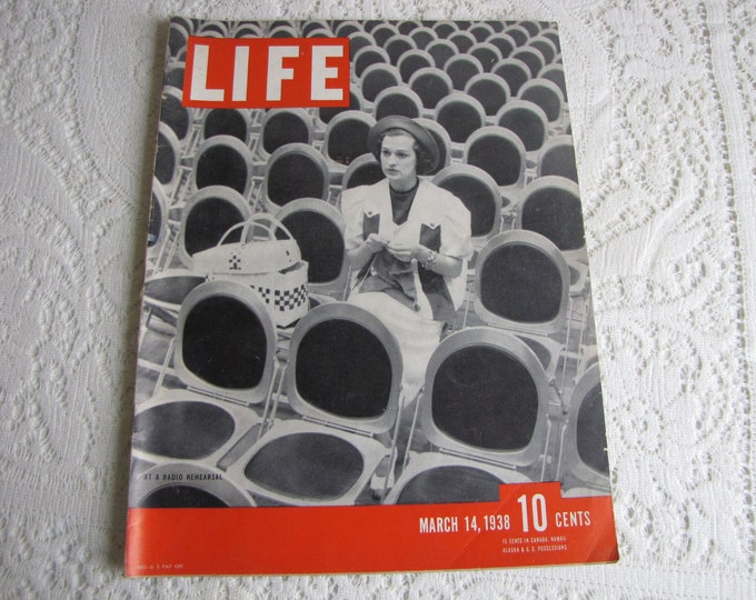 Life Magazines 1938 March 14 At A Radio Rehearsal Vintage Magazines and Advertising