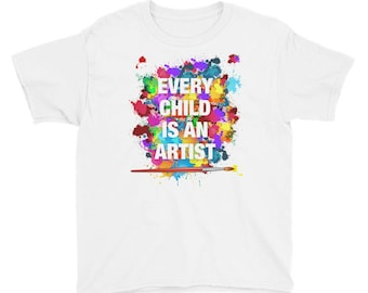 Every Child is an Artist Youth Short Sleeve T-Shirt