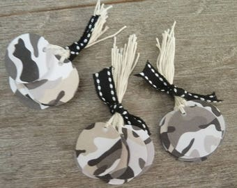 30 round tags - jungle - Camo - and cotton threads