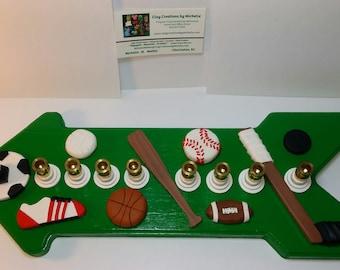 Sport Themed Menorah - hockey, baseball, football, basketball, volley ball, soccer