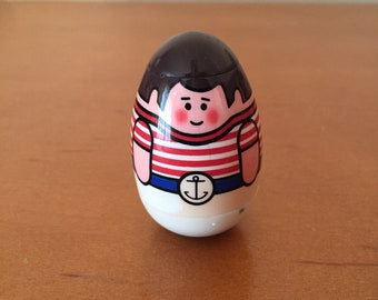 Vintage Hasbro Sailor with Striped Shirt & Anchor Belt Weeble