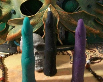 5 Witch Finger Beeswax Candles Your Choice Of Color