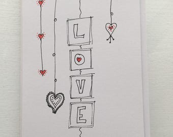 Love - handmade card