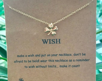 Four Leaf Clover Wish necklace