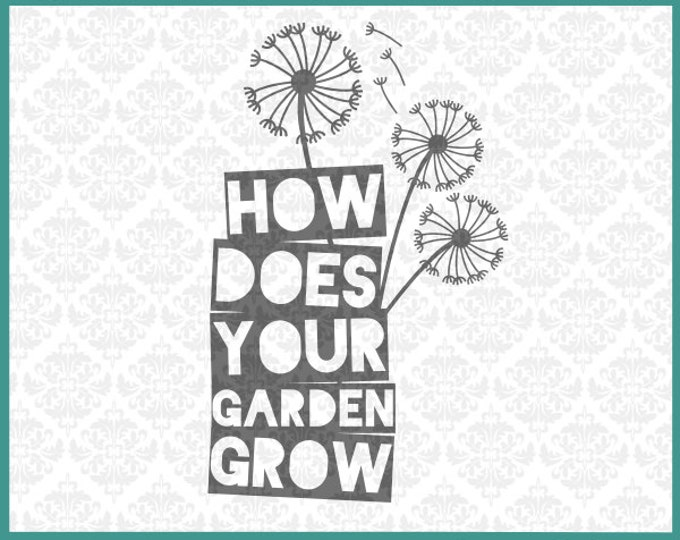 CLN004 Mother's Day Mom's Day Dandelion Grow Gardener Mason Jar SVG Ai EPS Scalable Vector Instant Download Commercial Use Cricut Silhouette