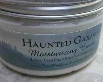 Haunted Garden - Moisturizing Cream - Roses - Violets - Ghosts - Gardenias - Floral Lotion - Goth Cream