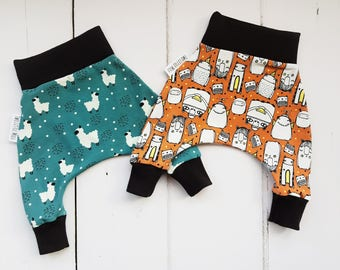New baby clothes, newborn baby clothes, baby harem pants, organic baby clothes, baby joggers, gender neutral baby