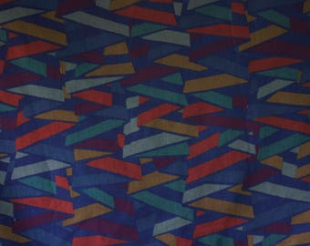 vintage 1980s Havana Collier Campbell geometric print cotton interiors fabric