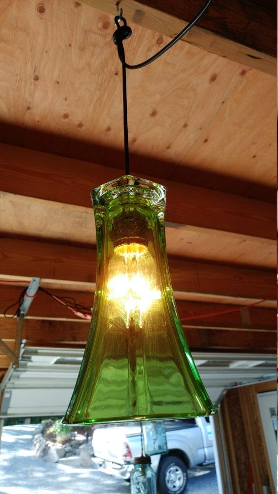 Emerald Green Vase pendant Light