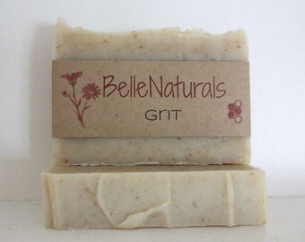 Grit - scrubby, exfoliating, pumice grease cutting, earthy scented all natural soap
