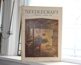 1929 Needlecraft Magazine September Issue Vintage 1920s Sewing