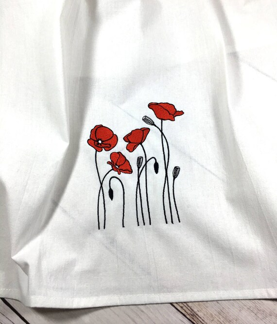 Red Poppy Tea Towel, Red Poppy Kitchen Towel, Poppy Flour Sack Towel, Poppy  Kitchen Decor, Poppy Home Decor, Modern Farmhouse Decor