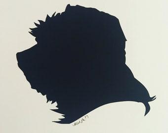 Hand Cut Custom Paper Silhouette