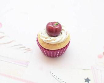Cherry cupcake magnet