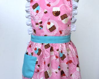 Toddler Apron Cupcakes 2-4 Dress Up Kid's Apron