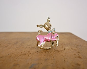 1950s Deer Brooch / 50s Deer Pin