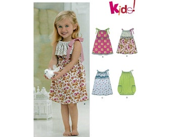 Toddler Girl's Dress Sewing Pattern Size 1/2-1-2-3-4 UNCUT OOP New Look 6276