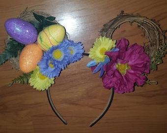 Disney Minnie Easter Ears, Disney Spring Ears, Easter Egg Ears Disney