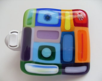 Funky Colorful Fused glass night light