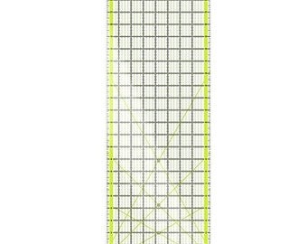 Arteza Acrylic Quilters Ruler - 8.5 x 24 inch - Double-Colored Grid Lines