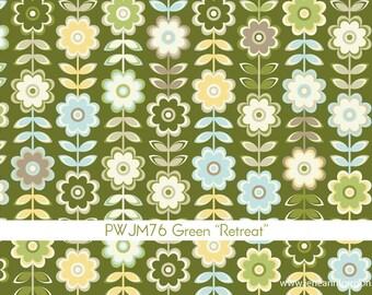 In My Room Retreat in Green by Jenean Morrison for Free Spirit - 1 Yard