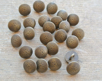 25 Small Gold Metallic Buttons- Perfect for Any DIY Project