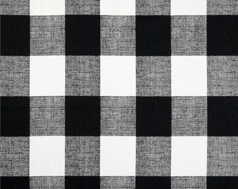 Black Valance. Black  and  white Buffalo Check.  Window treatment. Checkered Country curtains.  Choose  your sizes