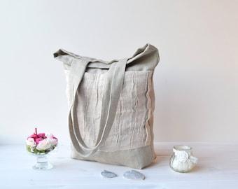 Canvas tote bag, Tote bag canvas, tote bag, Shopping bag, tote bag with pocket, canvas tote, farmer's market bag, sac, sac cabas, linen bag
