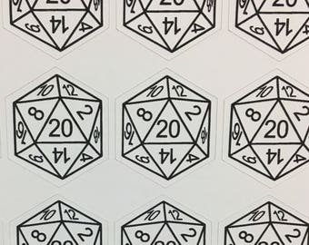 d20 Stickers