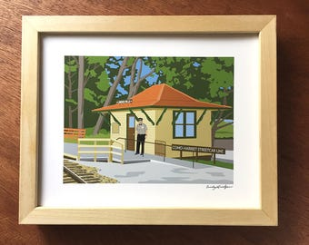 Lake Harriet Trolley Depot print