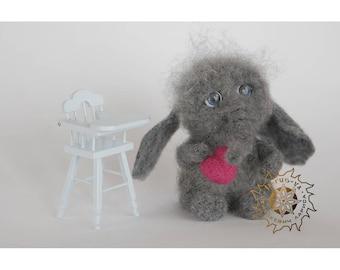Needle felted Elefant,Elefant,Art toy,Miniature toy,Soft sculpture,Gift,Plush toy,OOAK,Felt elefant,Home decor,Toy elefant,Personalized gift
