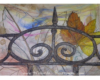 As It Comes - ART PRINT - Center Piece - 8 x 10 - By Mixed Media Artist Malinda Prudhomme