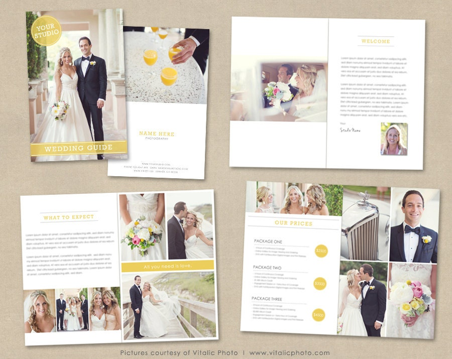 Wedding photography magazine template client welcome guide for Welcome brochure template
