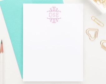 Personalized Stationery // Monogram stationery // Personalized Stationary // Choose your colors, MS011