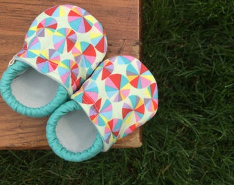 Baby Girl Shoes in a Kaleidoscope of Colors - Made to Order Sizes 0-24 months 2T-4T