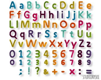 Applique alphabet pattern crochet uppercase lowercase large small letters numbers punctuation marks math signs