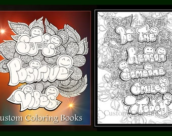 SJ's Positive Vibes-Custom Coloring Pages