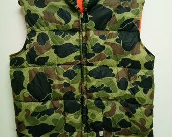 Rare camouflage bomber vest reversible striking orange by Charles Daly
