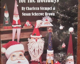 """Decorative 1993 painting book  Susan Scheewe presents  """"Keepsakes For The Holidays"""" tole painting how to 84 pages"""
