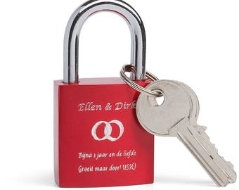 Engraved Lovelock - Love Padlock