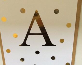 Initial Gold Foil A4 Print!