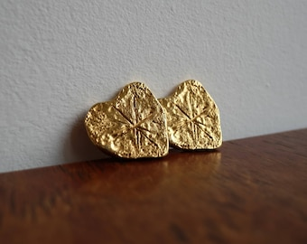 1980's Authentic Christian Lacroix Gold Plated Heart clip on Earrings