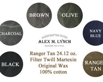 heavy waxed canvas twill fabric - 100% cotton 24.12 Oz/sqyd
