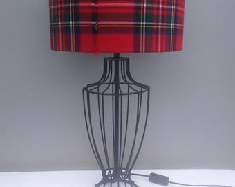 Royal Stewart Tartan Lampshade, handmade shade