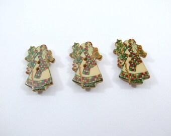 Dill Santa Claus Buttons [330544]