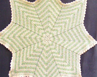 CROCHET AFGHAN THROW, Star, hand made, ooak, soft and cuddly, texture and warmth, 50""