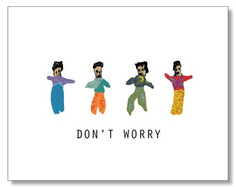 Worry Doll Card. Don't Worry - Sympathy Card. Feel Better Card. Sick Friend Card. Mayan Card. I'm Sorry. Worry Dolls - Stop Worrying Card