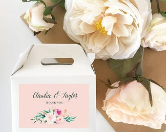 Wedding Favor Boxes Personalized Favor Box Personalized Wedding Favor Box  2| (EB2313GDN) 24 pcs