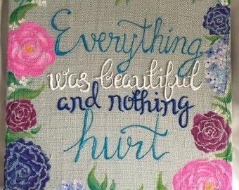 Custom Quote Hanging Sign