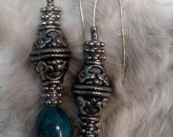 Ethnic style drop earrings